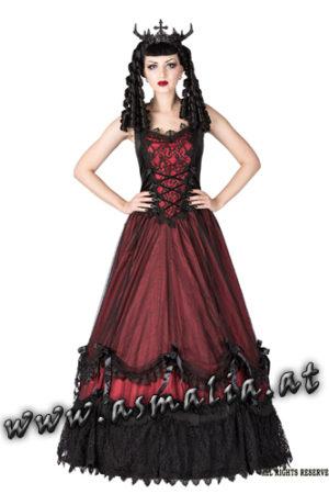 bodenlanges Kleid rot von Sinister im Gothic Shop Asmalia