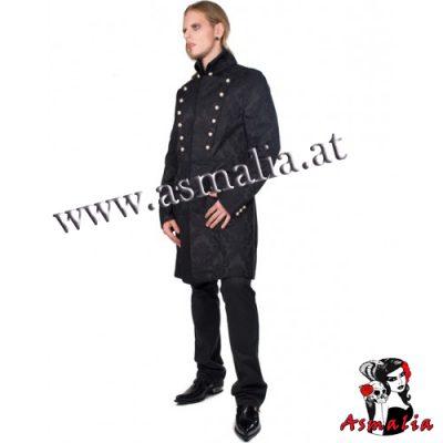Aderlass Admiral Coat Brocade (Schwarz)