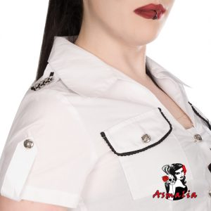 Aderlass Military Blouse Denim (Weiß) 2