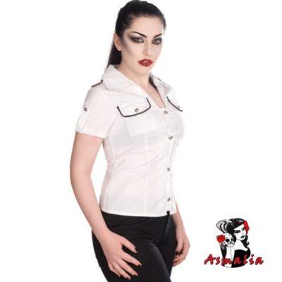 Aderlass Military Blouse Denim (Weiß)