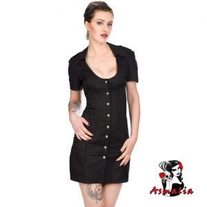 Aderlass Military Kleid Dress Denim (Schwarz)