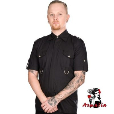 Aderlass Military Shirt Denim (Schwarz)