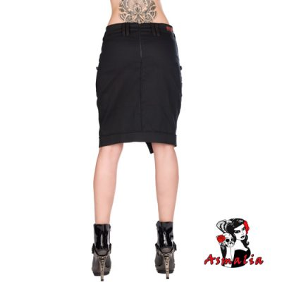 Aderlass Military Skirt Denim (Schwarz) 1