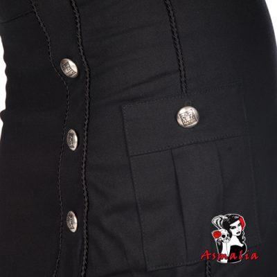 Aderlass Military Skirt Denim (Schwarz) 2