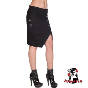 Aderlass Military Skirt Denim (Schwarz)