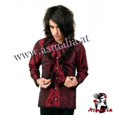 Aderlass Riffle Victorian Shirt Satin (Bordeaux)