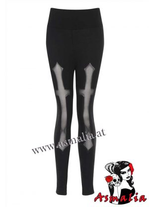 Gothic Hades Cross Leggings Necessary Evil