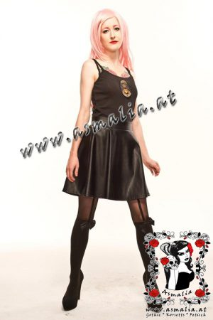 Leather Look Flared Skirt Phaze Designs 1