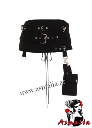 N1261 Gothic Hel Pocket Multi Belt Cincher Necessary Evil