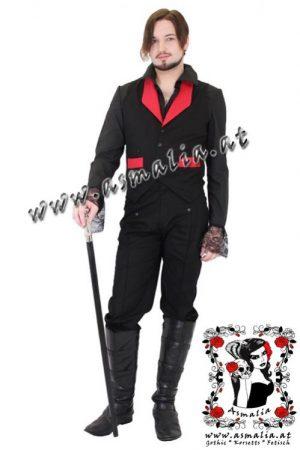 Red Brocade Collar Canvas Waistcoat Phaze Designs