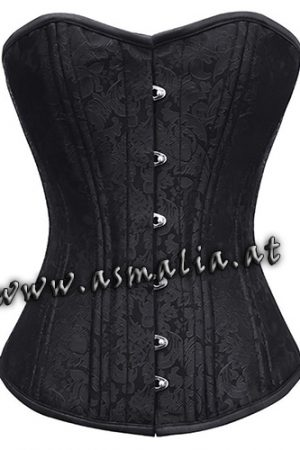 Schwarzes Brokat Vollbrust Trainings Korsett Asmalia Gothic Shop