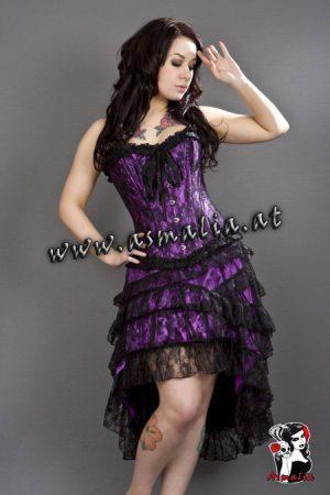 Gothic Rock violett Spitze von Burleska