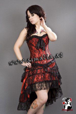 Gothic Rock rot Spitze von Burleska im Gothic Shop Asmalia