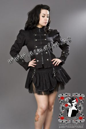 pirate black mini skirt burleska