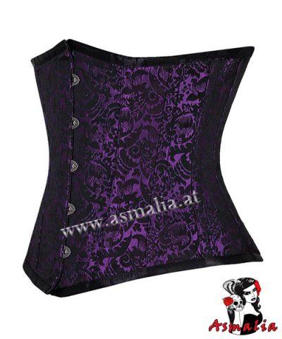 violett Brokat Unterbrust Korsett 1