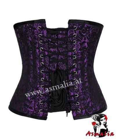 violett Brokat Unterbrust Korsett 2