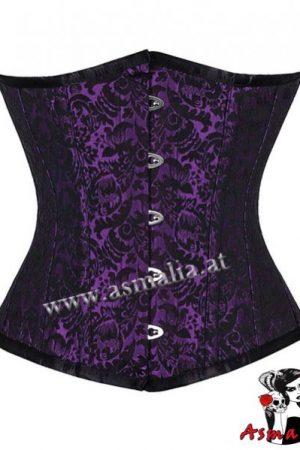violett Brokat Unterbrust Korsett