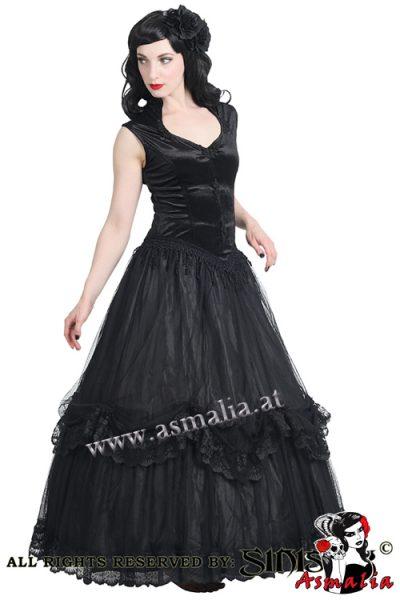 403 - Black velvet and mesh gothic Longdress by Sinister