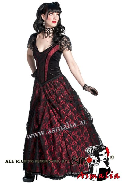 728 - Lace and satin gothic dress gown by Sinister