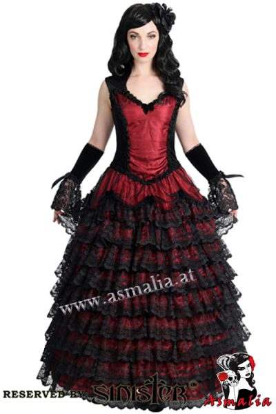 874 - Velvet and lace gothic longdress by Sinister