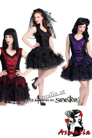 875 - Velvet and satin gothic mini dress by Sinister