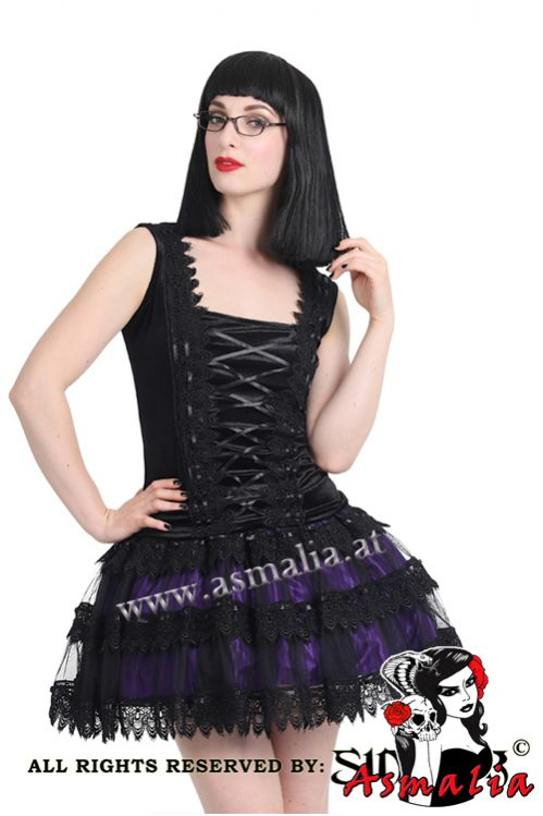 906 – Satin and tulle gothic Miniskirt by Sinister_04