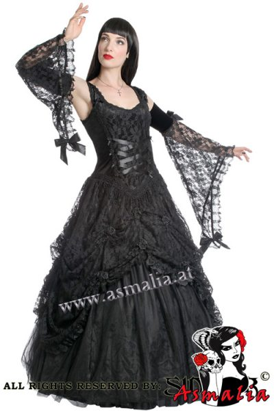 914 - Black gothic lace weddingdress by Sinister