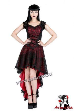 Vokuhila Samtkleid rot von Sinister im Gothic Shop Asmalia