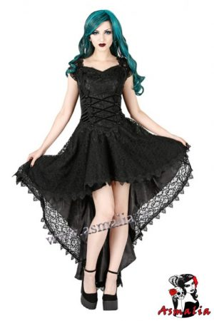 988 - Fishtail gothic longdress by Sinister