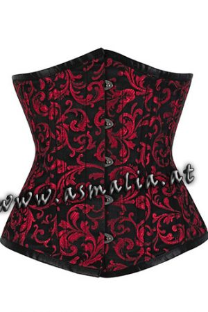 Rotes Brokat Unterbrust Trainings Korsett Asmalia Gothic Shop