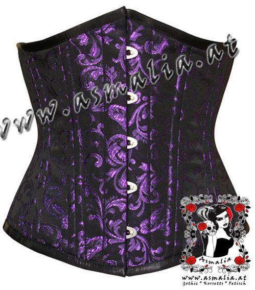 Violettes Brokat Unterbrust Trainings Korsett Asmalia Gothic Shop