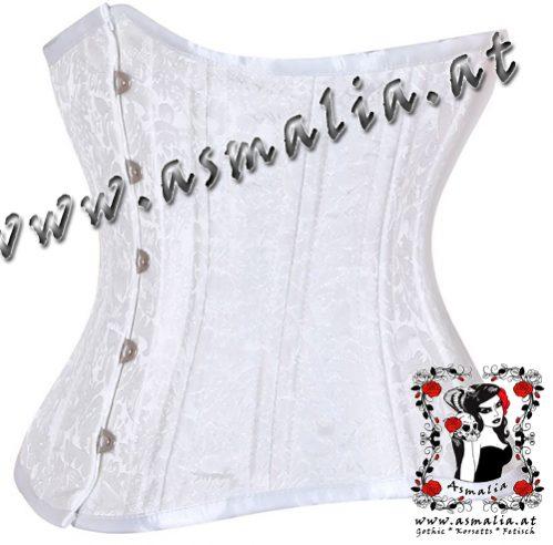 1a0aec05b9b18 Weißes Brokat Unterbrust Trainings Korsett