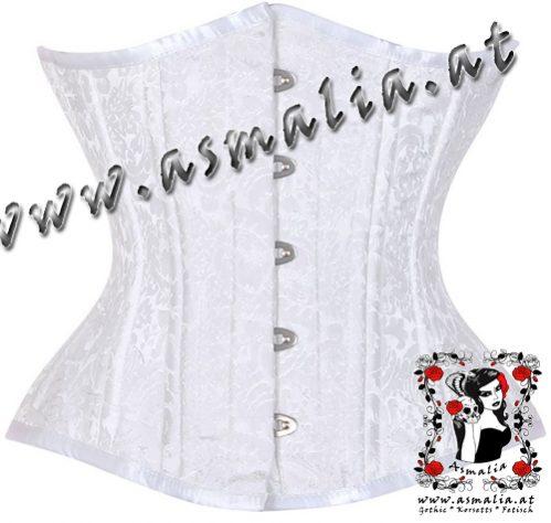 Weißes Brokat Unterbrust Trainings Korsett Asmalia Gothic Shop