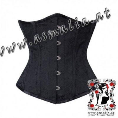 schwarz Brokat Unterbrust Korsett Asmalia Gothic Shop_