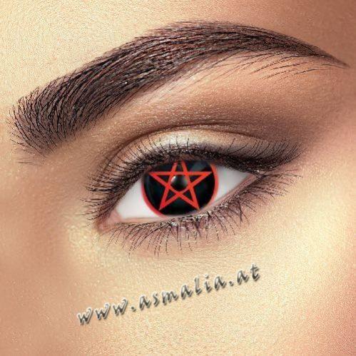 Red Pentagram Kontaktlinsen