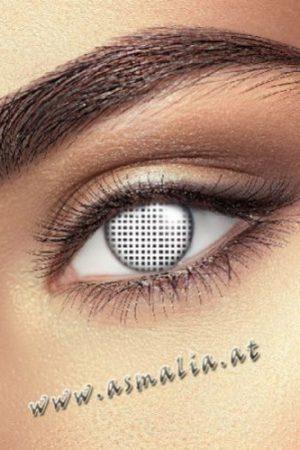 White Mesh Kontaktlinsen