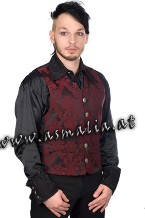 Dark Vest Brocade Bordeaux von Aderlass Asmalia Gothic Shop