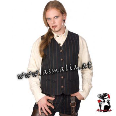 Dark Vest Steampunk PinStripe von Aderlass Asmalia Gothic Shop