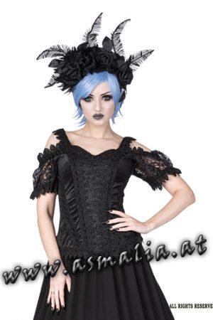 Sinister Lolita Samttop schwarz 1133