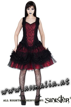 Sinister Samt Minikleid rot 964 im Gothic Shop Asmalia