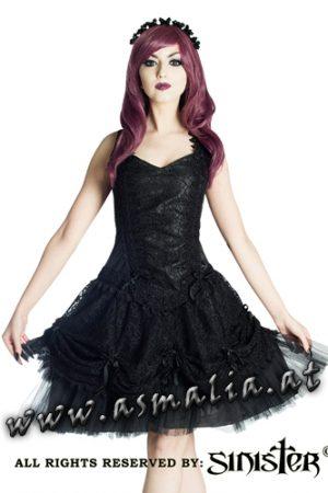 Sinister Samt Minikleid schwarz 964 im Gothic Shop Asmalia