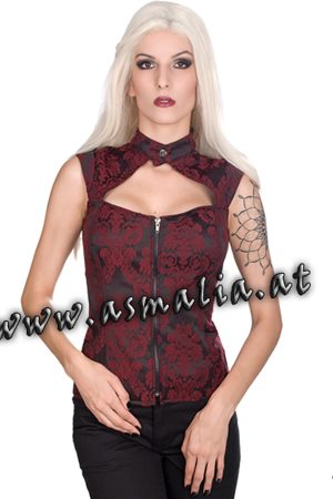 Aderlass Zip Top Brocade im Gothic Shop Asmalia - Wien