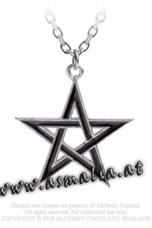 Black Star Kette P775 Pentagramm von Alchemy im Gothic Shop Asmalia