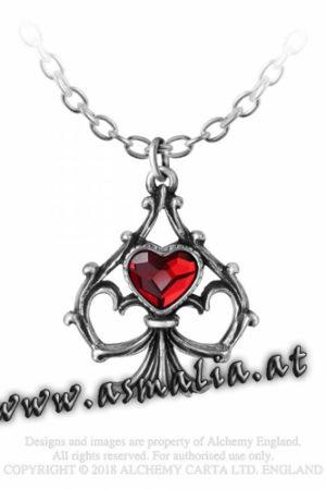 Luck in Love Kette P 759 Herz von Alchemy im Gothic Shop Asmalia