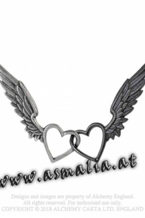 Passio Wings of Love Kette P800 Herz Flügel von Alchemy im Gothic Shop Asmalia