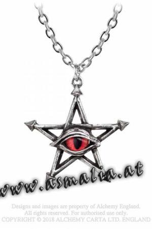 Red Curse Kette P805 Pentagram von Alchemy im Gothic Shop Asmalia