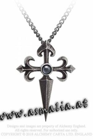 Santiago Cross Kette P801 Kreuz von Alchemy im Gothic Shop Asmalia