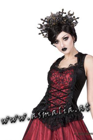 Sinister ärmelloses Gothic Top schwarz 1063 Asmalia Shop Wien