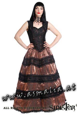 Sinister Kleid Bodenlang Kupfer