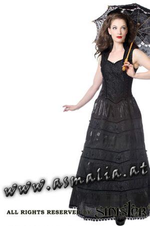 Sinister Kleid Bodenlang schwarz